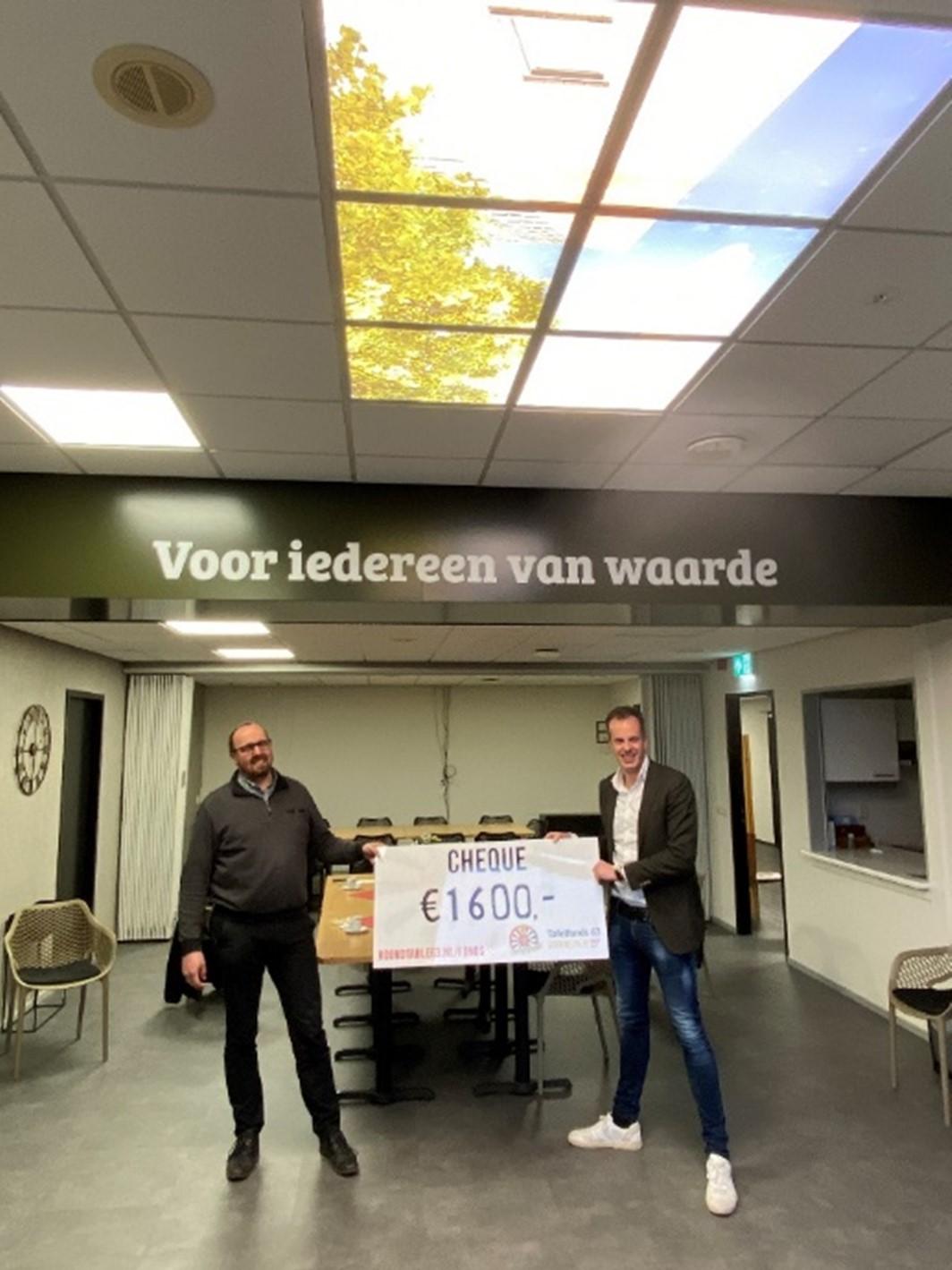 Ronde Tafel 63 Gorinchem doneert led-panelen aan Wijkcentrum Rozenobel